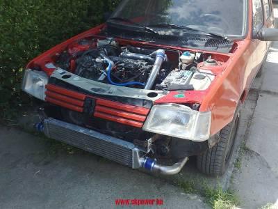 47f3aea5a0d Peugeot 205 1.9 tdi Intercooler csövezés,intercooler alakítás